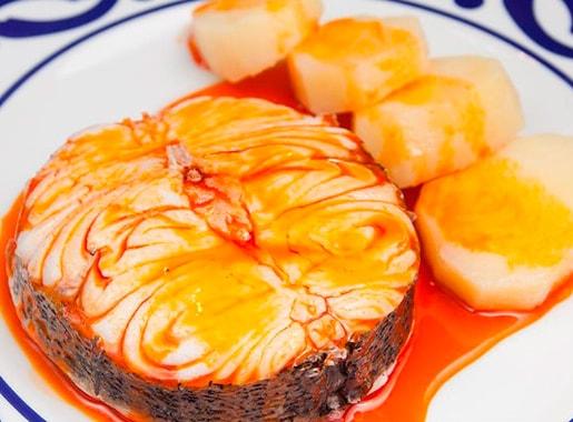 urantes burela c1 pescado en salsa